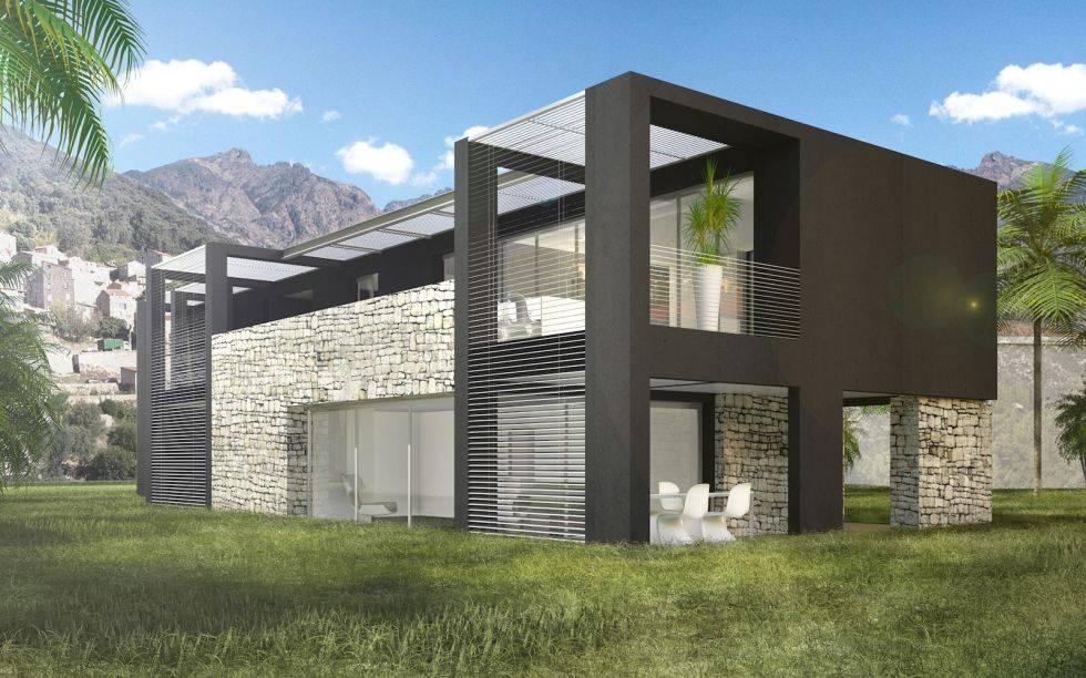 extension d une maison cubique tassin la demi lune construction et extension de villa haut. Black Bedroom Furniture Sets. Home Design Ideas